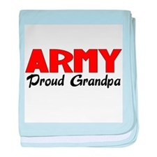 Army Grandpa (red) baby blanket