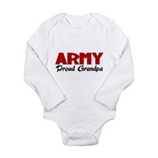 Army Grandpa (red) Long Sleeve Infant Bodysuit