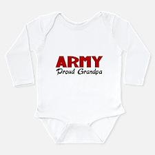 Army Grandpa (red) Long Sleeve Infant Bodysuit