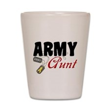 Army Aunt Dog Tags Shot Glass