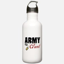 Army Aunt Dog Tags Water Bottle