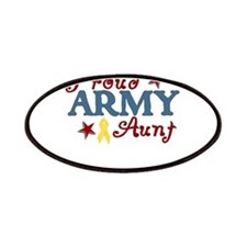Army Aunt (collage) Patches