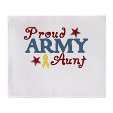 Army Aunt (collage) Throw Blanket