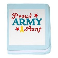 Army Aunt (collage) baby blanket