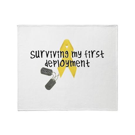 First Deployment (Army) Throw Blanket