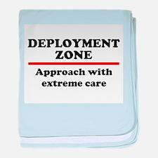 Deployment Zone - 10 baby blanket