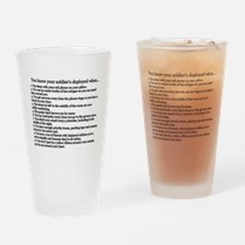 Unique Military wife Drinking Glass