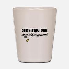 Surviving 2nd Deployment Shot Glass