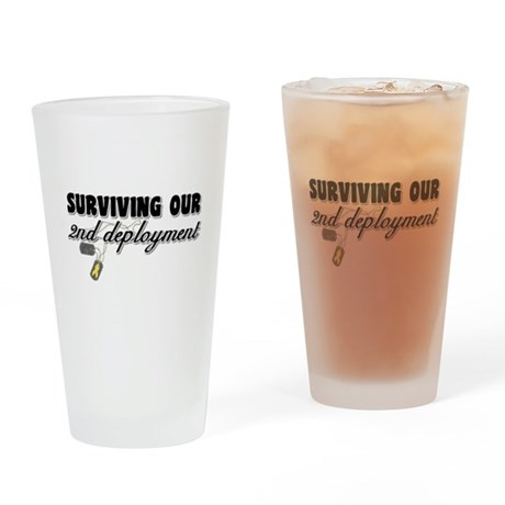 Surviving 2nd Deployment Drinking Glass