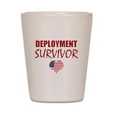 Deployment Survivor Shot Glass