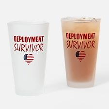Deployment Survivor Drinking Glass