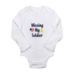 Missing My Soldier Long Sleeve Infant Bodysuit