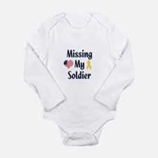 Missing My Soldier Long Sleeve Infant Bodysuit