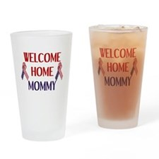 Welcome Home Mommy - Ribbon Drinking Glass