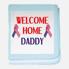 Welcome Home Daddy - Ribbon baby blanket