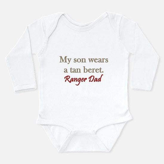 Ranger Dad - tan beret Long Sleeve Infant Bodysuit