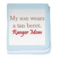 Ranger Mom - tan beret baby blanket