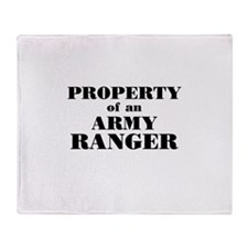 Property of an Army Ranger Throw Blanket