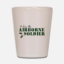 I Love My Airborne Soldier Shot Glass