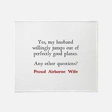My husband jumps... Throw Blanket