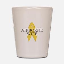 Airborne Wife Ribbon Shot Glass