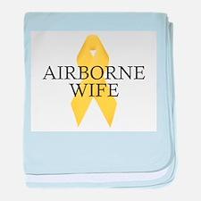 Airborne Wife Ribbon baby blanket