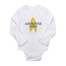 Airborne Wife Ribbon Long Sleeve Infant Bodysuit