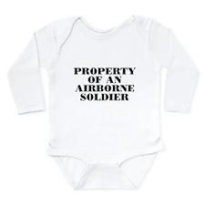 Property of an Airborne Soldi Onesie Romper Suit