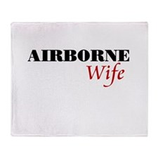 Airborne Wife Throw Blanket