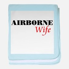 Airborne Wife baby blanket