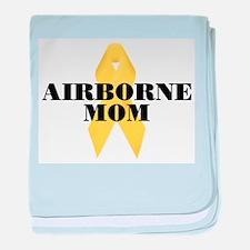Airborne Mom Ribbon baby blanket