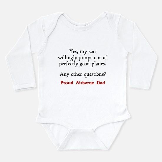 My son jumps...dad Long Sleeve Infant Bodysuit