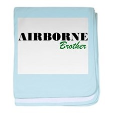 Airborne Brother baby blanket