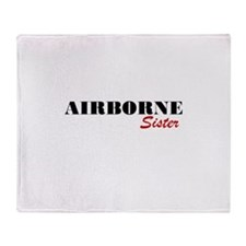 Airborne Sister Throw Blanket