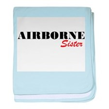 Airborne Sister baby blanket