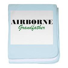Airborne Grandfather baby blanket