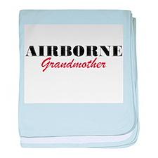 Airborne Grandmother baby blanket