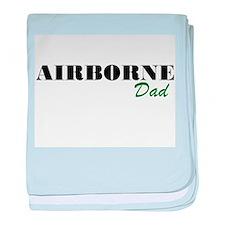 Airborne Dad baby blanket