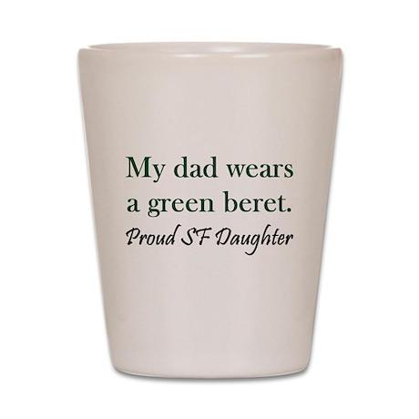 Green Beret Daughter Shot Glass