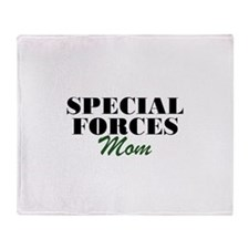 Special Forces Mom Throw Blanket