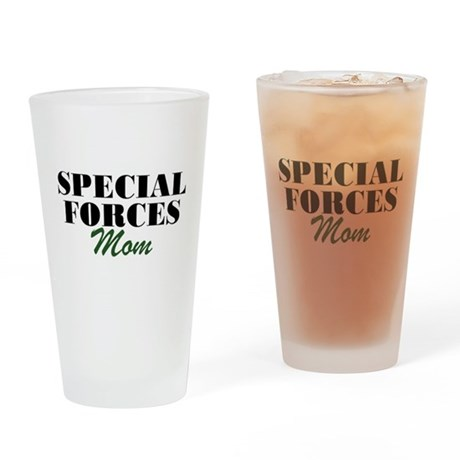Special Forces Mom Drinking Glass