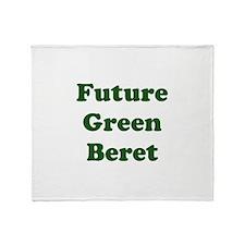 Future Green Beret Throw Blanket