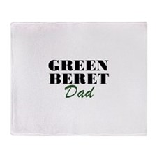 Green Beret Dad Throw Blanket