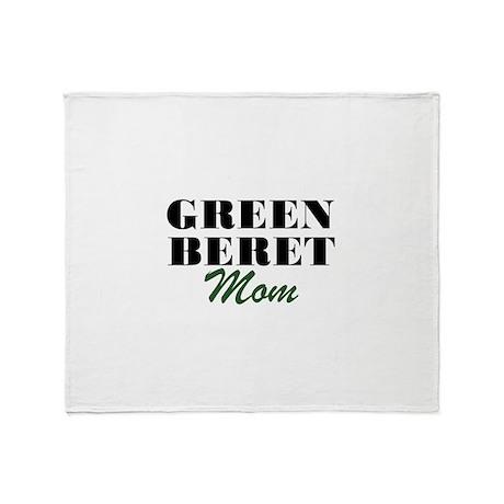 Green Beret Mom Throw Blanket