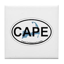 Cape Cod MA - Oval Design Tile Coaster