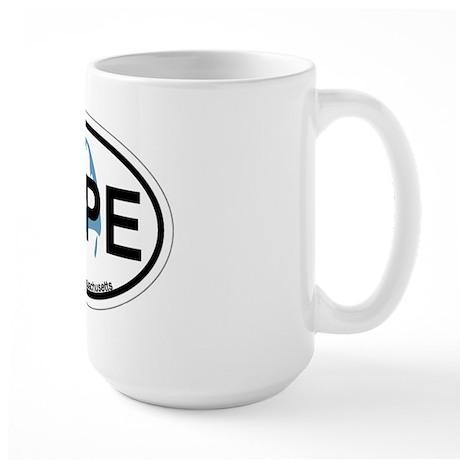 Cape Cod MA - Oval Design Large Mug