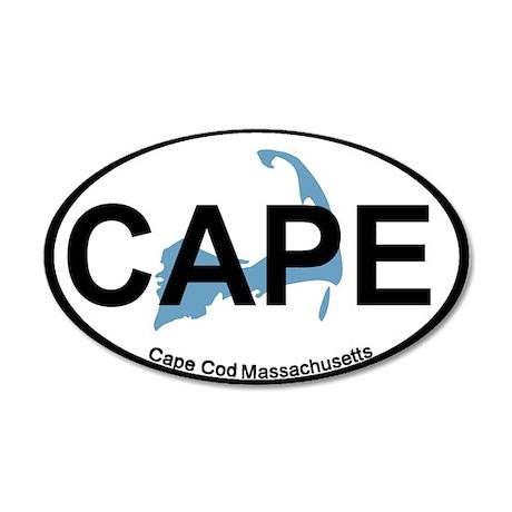 Cape Cod MA - Oval Design 22x14 Oval Wall Peel