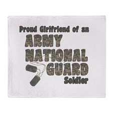 Cute Army girlfriend Throw Blanket