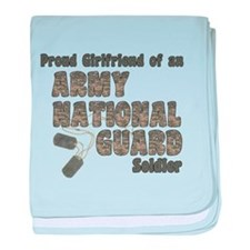 Funny Army national guard baby blanket