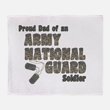 National Guard Dad (tags) Throw Blanket